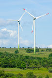 Green energy windmill generators ecology Stock Photo