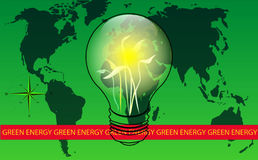 Green Energy World. Green energy and eco concept Royalty Free Stock Images