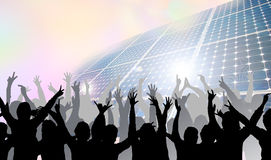 Green energy worshipers Royalty Free Stock Photography