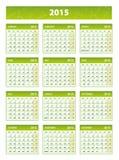 2015 green english calendar Royalty Free Stock Photos