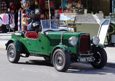 Green english vintage car Royalty Free Stock Images
