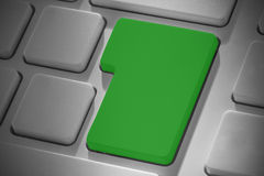 Green enter key on keyboard Royalty Free Stock Photo