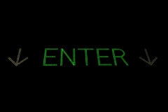 Green enter sign with arrows Royalty Free Stock Photography