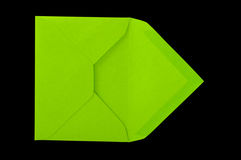 Green envelope. Stock Image