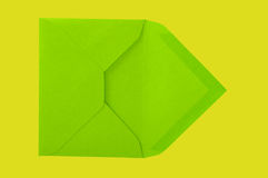 Green envelope. Stock Photography