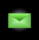 Green envelope Stock Photos