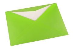 Green envelope Royalty Free Stock Image