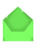 Green envelope Royalty Free Stock Images
