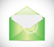Green envelope email illustration design Stock Photos