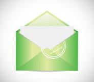 Green envelope email illustration design Stock Photos
