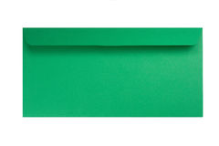 Green envelope isolated on white Stock Photography