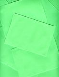 Green envelopes Stock Photography