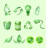 Green environment. Icon for company stock illustration