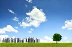Green Environment City Royalty Free Stock Images