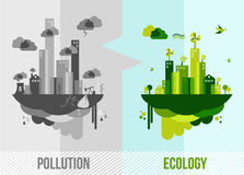 Green environment concept illustration Stock Photography