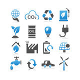 Green environment ECO icon Stock Photos