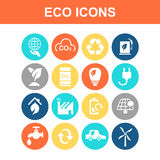 Green environment ECO icon Stock Photo