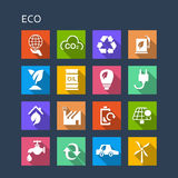 Green environment ECO icon Stock Images