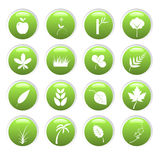 Green environment icons Stock Image