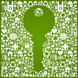 Green environment key background Royalty Free Stock Photography
