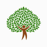 Green environment people tree concept symbol Stock Images