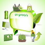 Green environment symbols Royalty Free Stock Images