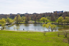 Green environment in the Tineretului Park Royalty Free Stock Image