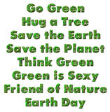 Green Environment Words Stock Images