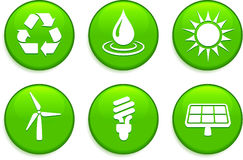 Green Environmental Buttons Stock Images
