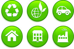 Green Environmental Buttons Royalty Free Stock Photo