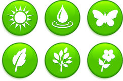 Green Environmental Buttons Royalty Free Stock Photography