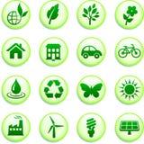 Green Environmental Buttons Stock Photo