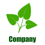 Green environmental company logo Stock Image