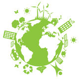 Green environmental earth stock illustration