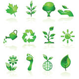 Green environmental icons Royalty Free Stock Images