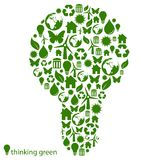 Green Environmental Light Bulb Royalty Free Stock Photo