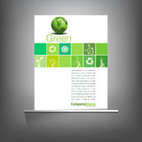 Green environmental page template Royalty Free Stock Images
