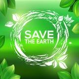 Green environmental stamp drawing Stock Photo