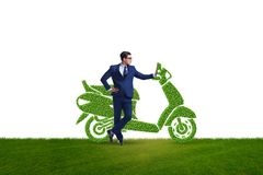 Green environmentally friendly vehicle concept. The green environmentally friendly vehicle concept stock photography