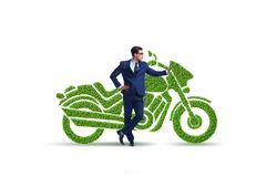 Green environmentally friendly vehicle concept. The green environmentally friendly vehicle concept royalty free stock images