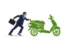 Green environmentally friendly vehicle concept. The green environmentally friendly vehicle concept stock image