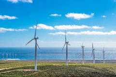 Green eolic energy. In Chile Royalty Free Stock Image