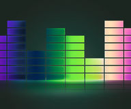 Green Equalizer Music Background Stock Photo