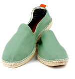 Green Espadrilles Stock Photography