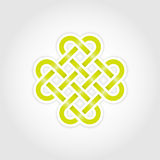 Green eternal knot. Concept in editable vector format Royalty Free Stock Photos