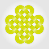Green eternal knot concept Royalty Free Stock Photo