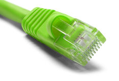 Green Ethernet Cable Royalty Free Stock Photo