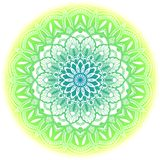 Green ethnic mandala. Royalty Free Stock Images