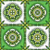 Green ethnic pattern Stock Image