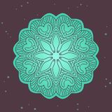 Green ethnics mandala on broun background Stock Photography